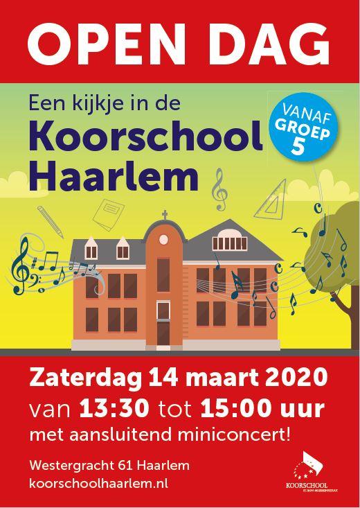 Open Dag Koorschool Haarlem – 14 maart 2020